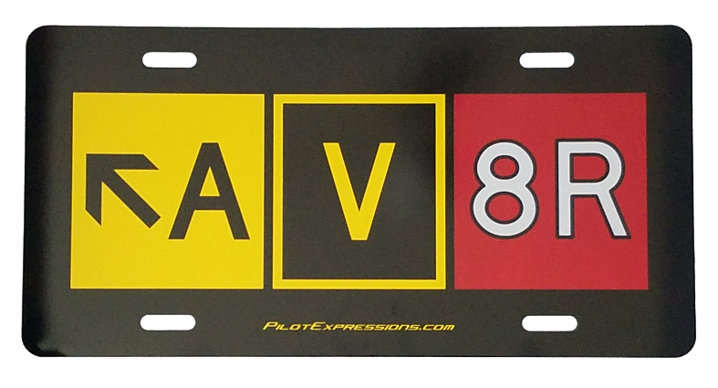 AV8R Taxiway Sign Decorative License Plate